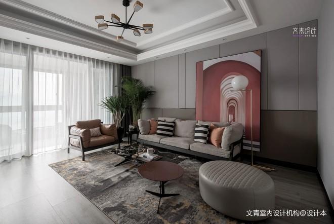 现代客厅背景画图片