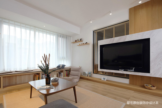 日式三居客厅实景图片