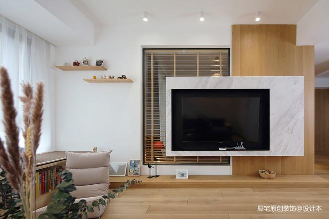 日式三居背景墙实景图