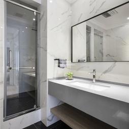 轻奢美式风卫浴洗手台设计图