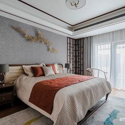 中式别墅卧室实景图片