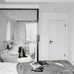 黑白过渡现代卧室设计图