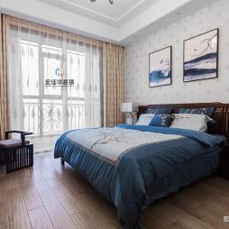 木色中式卧室设计图片