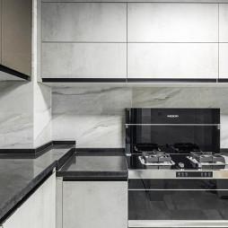 优雅现代复式厨房图片