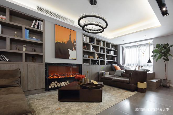 现代二居小户型客厅实景图片