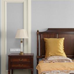 现代美式风格卧室台灯图