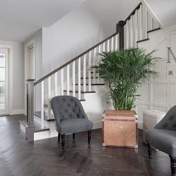 简洁美式复式楼梯设计图