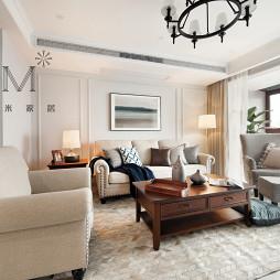 200㎡现代美式客厅设计