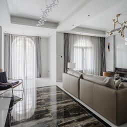 现代风大别墅客厅设计图