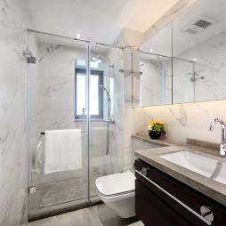 低调现代复式卫浴设计图片