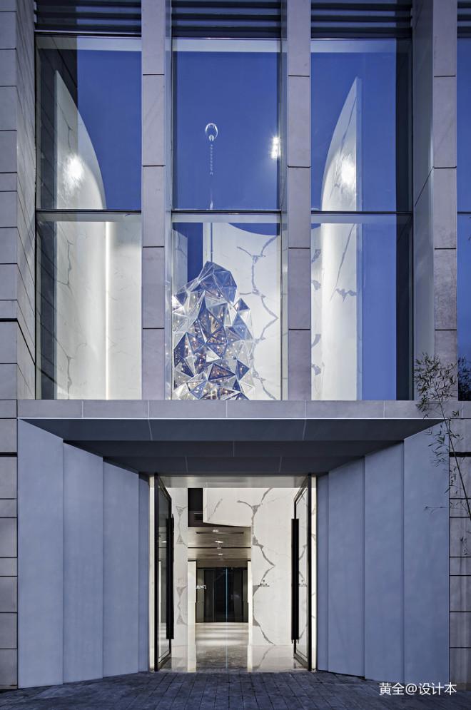 义乌朝阳门售楼处入口设计