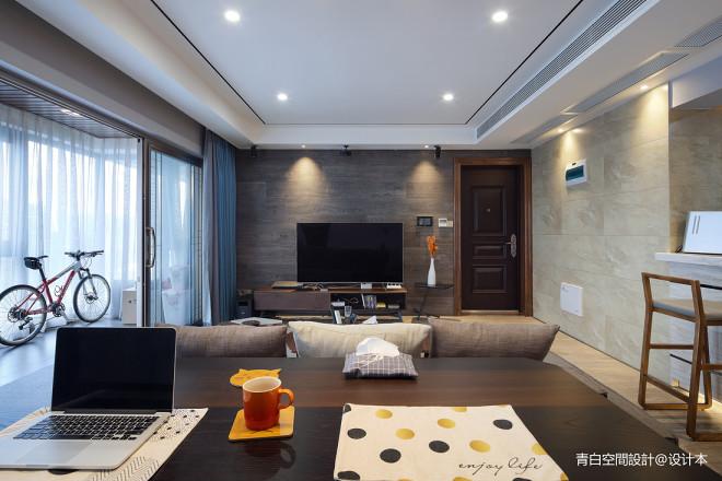 灰白现代背景墙设计图
