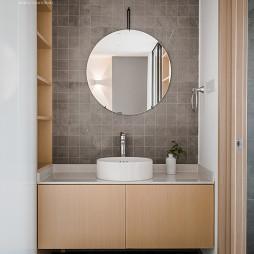北欧原木风卫浴洗手台设计