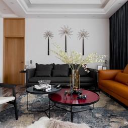 现代自建别墅客厅沙发图