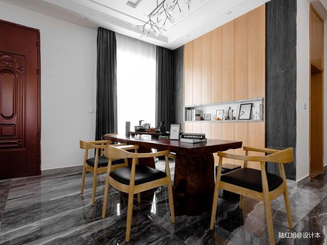 现代自建别墅茶艺区设计图