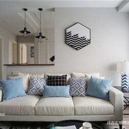 纯真北欧客厅沙发设计图