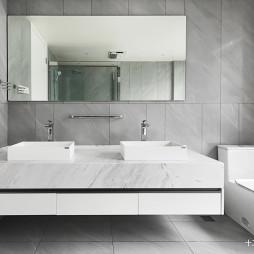 简洁现代别墅卫浴设计图片