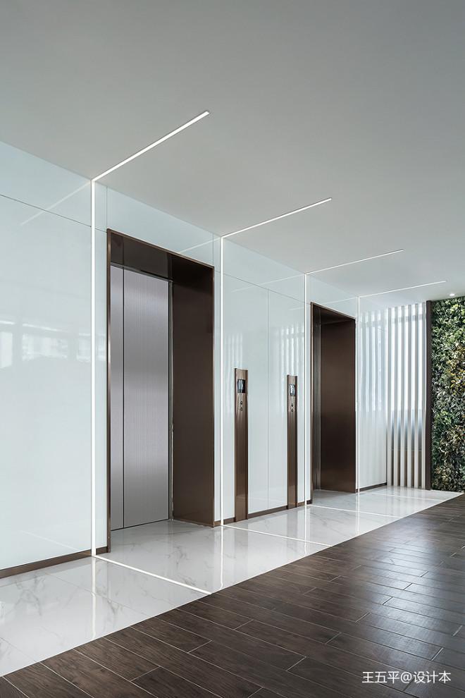 深圳美百年文创会所电梯厅设计