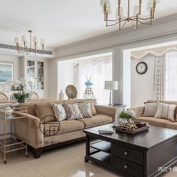 浓淡相宜美式客厅沙发图