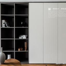 """优雅""""高级灰""""书房柜体设计"""