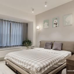 清新系现代卧室飘窗设计
