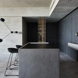 《蓝眼》现代客厅餐厅设计图