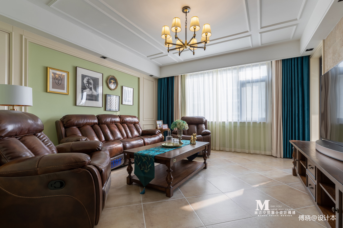 复古美式客厅设计图片