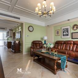 复古美式客厅沙发图片