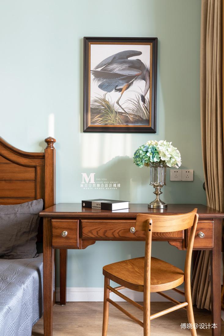 复古美式卧室书桌设计图