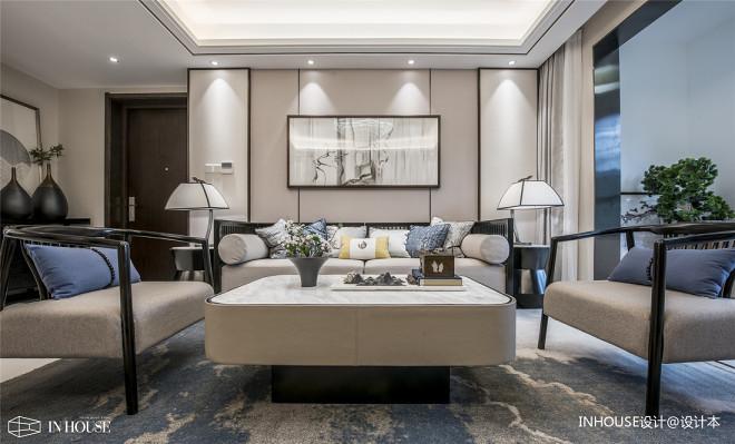融创中新国际城精装样板间客厅沙发