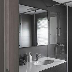 质朴现代风卫浴洗手台设计