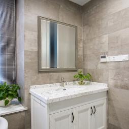 独墅苑美式卫浴洗手台设计