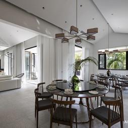 现代别墅餐厅吊灯图片