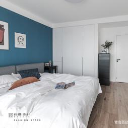 蓝色背景现代主卧室设计