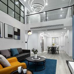 现代风复式客厅设计图片