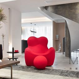 208㎡loft风格客厅设计