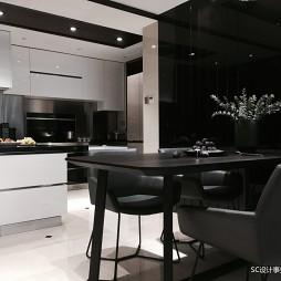 艺术现代风厨房餐厅一体设计