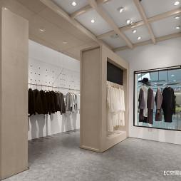 初•白 服装店铺衣柜设计