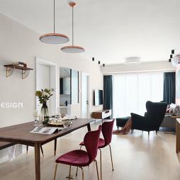 北欧风二居客厅餐厅一体设计