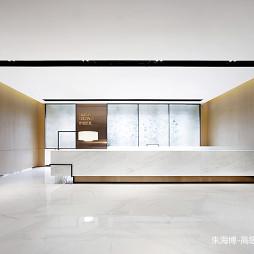侨信控股办公空间前台设计图