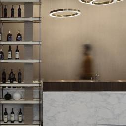1000㎡展销厅水吧台设计图