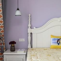 紫色现代风卧室吊灯图片
