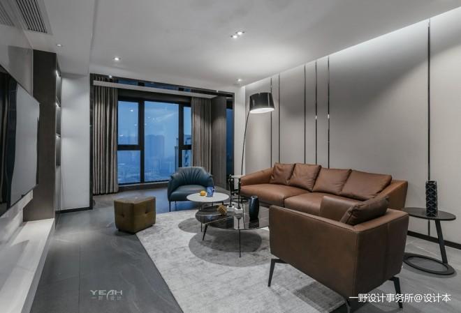 150㎡ | 现代简约客厅实景图