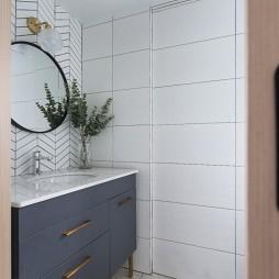 小复式北欧风卫浴洗手台设计