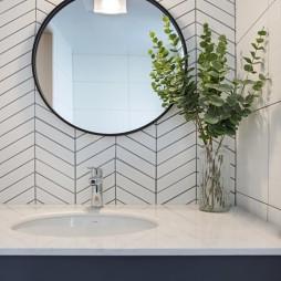 小复式北欧风卫浴洗手台设计图