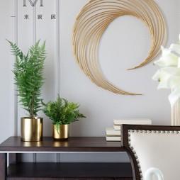 135㎡现代美式餐厅储物柜设计
