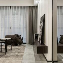 黑白简约风无电视背景墙设计
