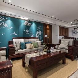 140㎡优雅中式客厅背景墙设计