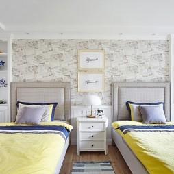 温馨自然现代双人儿童房设计