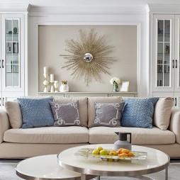 温馨自然现代客厅沙发图